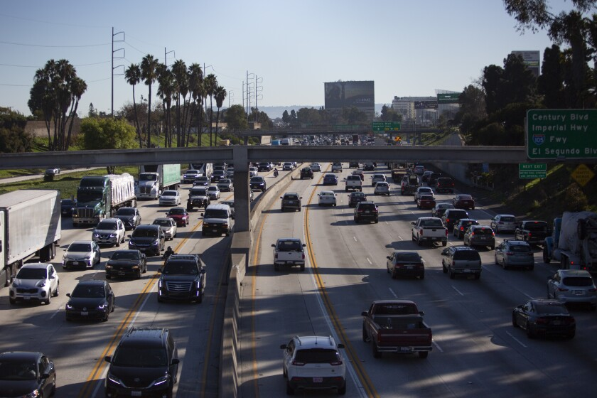 Cars on the 405 Freeway