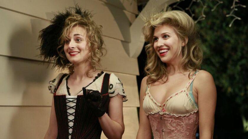 "Maria Blasucci, left, and Amanda Lund in the 2014 Web comedy ""Ghost Ghirls."""