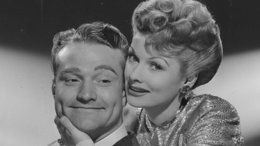 """Red Skelton and Lucille Ball in """"DuBarry Was a Lady."""""""