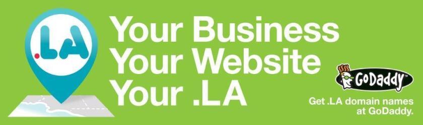 GoDaddy, the world's largest domain registrar, will kick off a marketing blitz for the .la Web address on Monday.