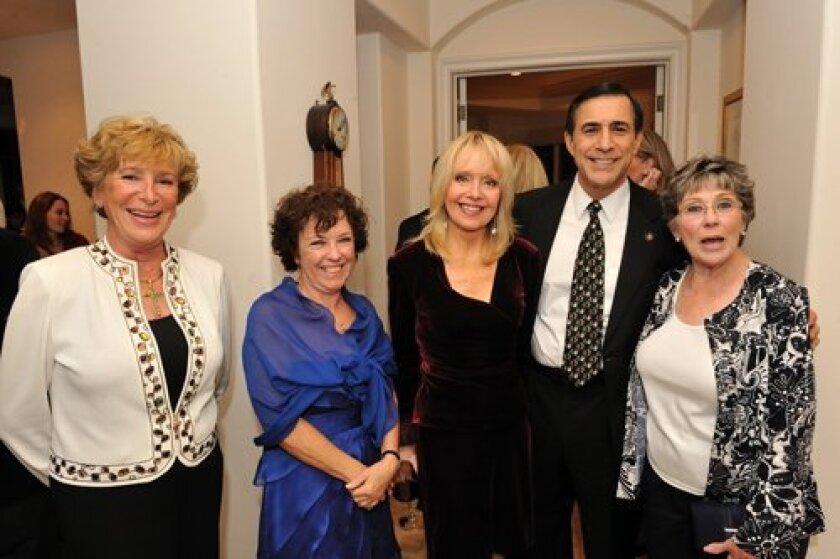 Rosemarie Kucey, Gerda Snell, Sheryl Chase, Congressman Darrell Issa, Barbara Fullwood