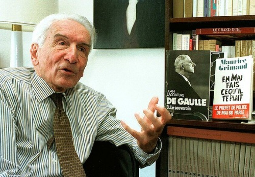 Both Nicolas Sarkozy, president of France, and Daniel Cohn-Bendit, the leader of the 1968 uprising, praised Maurice Grimaud, who urged restraint and the opening of a dialogue.