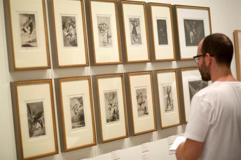 """Un Goya """"más libre y crítico"""" es mostrado en una exposición en el Museo de las Artes (Musa) de la Universidad de Guadalajara, la cual reúne grabados de la serie """"Los disparates"""", una de las últimas obras que el pintor español realizó antes de morir y que son poco conocidas. EFE/ARCHIVO"""