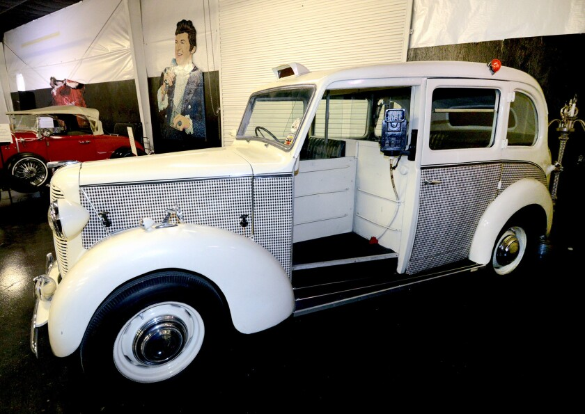The new Liberace Garage contains several cars once used on and off stage by