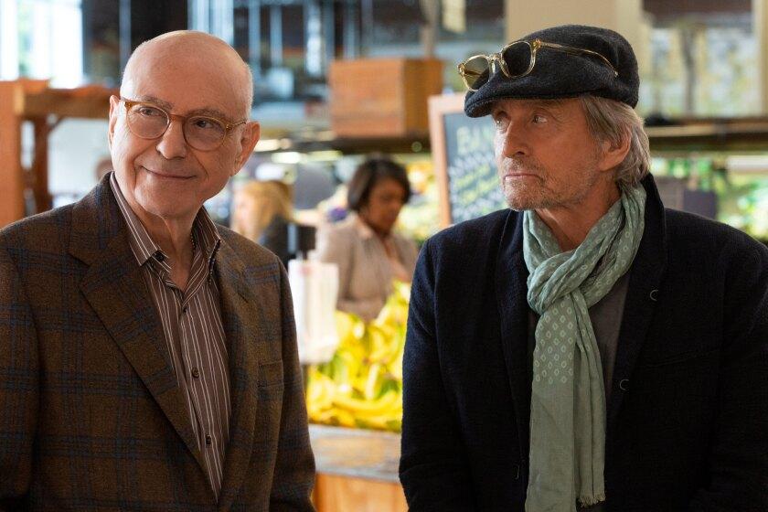 "Alan Arkin, left, and Michael Douglas in ""The Kominsky Method."""