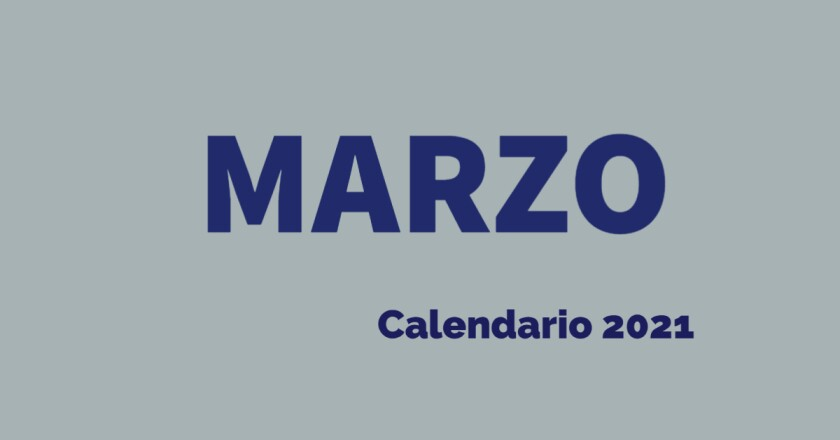 Marzo calendario