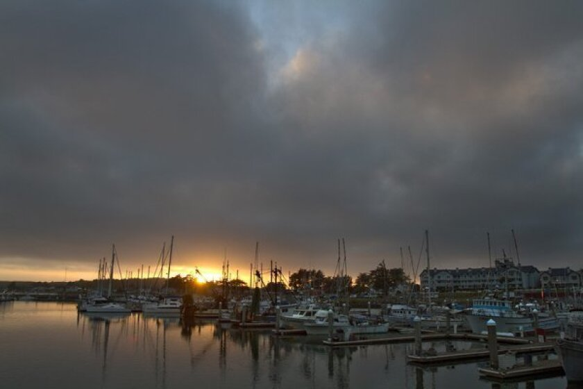 The salmon fleet at Half Moon Bay is getting ready to fish.