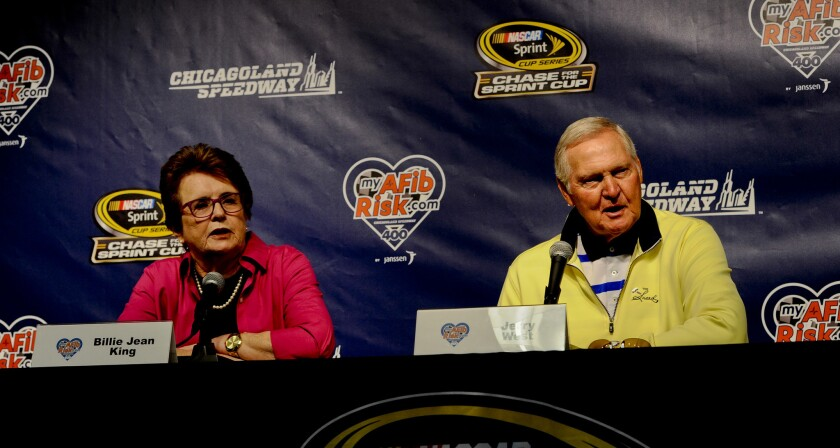 Jerry West, Billie Jean King