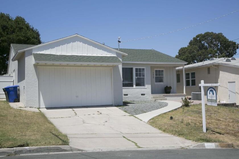 A home for sale in La Mesa.