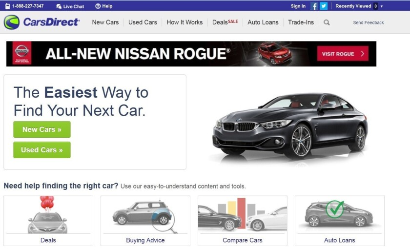 Buyout giant KKR is acquiring Internet Brands, the parent of CarsDirect.com.