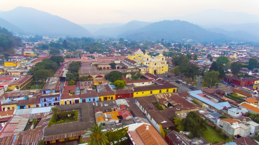 Landscape at City of Antigua - Guatemala