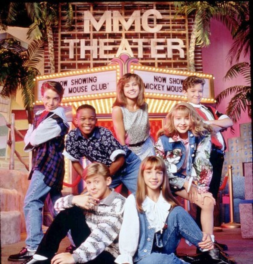 "By Deborah Netburn, Los Angeles Times Staff Writer 1981: On Dec. 2, Britney Jean Spears is born in the small town of Kentwood, La., to a former schoolteacher mom and a building contractor dad. 1993: Young Brit, already an accomplished gymnast, joins the cast of ""The New Mickey Mouse Club"" on Disney along with Justin Timberlake, Keri Russell, Christina Aguilera and Ryan Gosling."