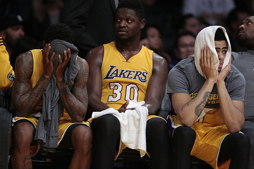 Young Lakers stars going through end-of-season struggles