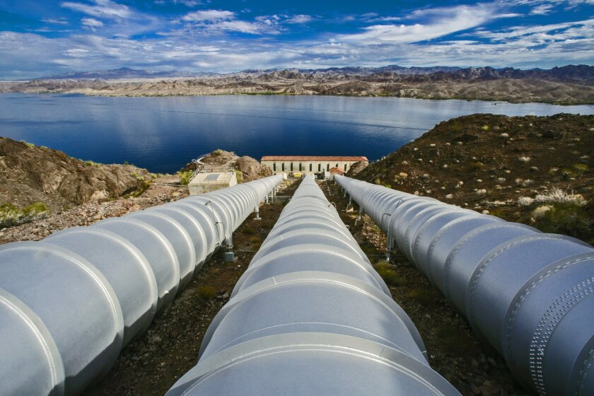 The Whitsett Intake Pumping Plant is the start of the 242-mile Colorado River Aqueduct, which transports water from Lake Havasu to Lake Mathews in Riverside County. This plant is the first of five pumping stations that carries water over mountains and through the desert, and is a major source of wa