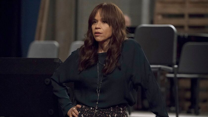 "Rosie Perez as Tracey Wolfe in the TV show ""Rise."" Perez testified in Harvey Weinstein's rape trial Jan. 24 in Manhattan."