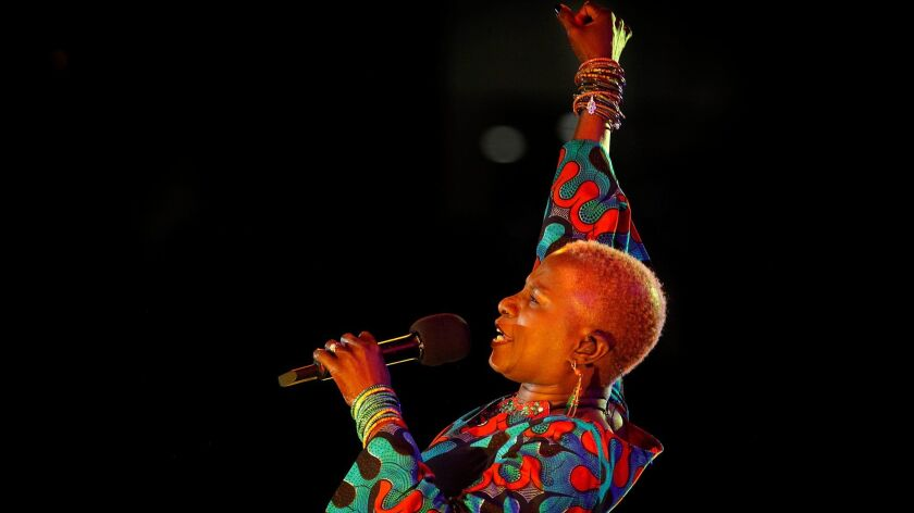 LOS ANGELES, ET- Angelique Kidjo performed at at Grand Performances stage in downtown LA June 20, 2