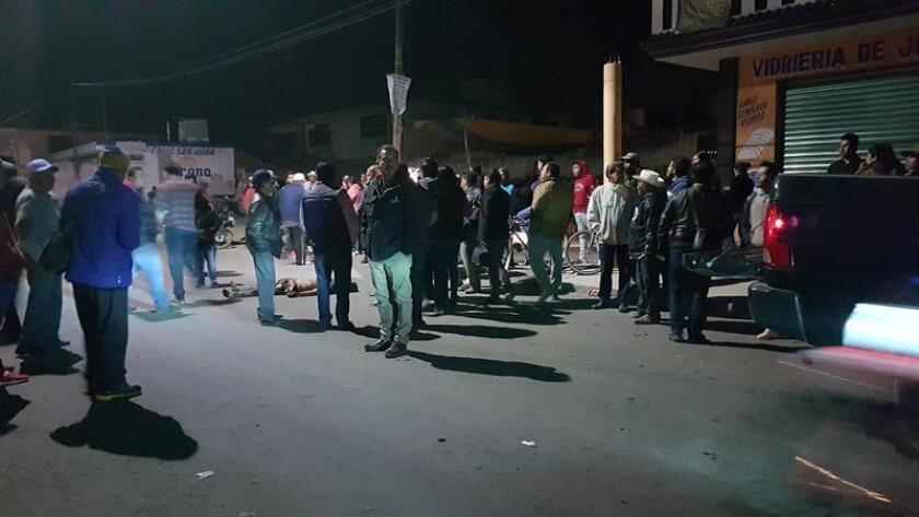 Vista general del sitio donde un presunto ladrón murió tras ser brutalmente linchado por más de un centenar de pobladores de la comunidad de San Juan Tuxco, en el estado de Puebla (México). EFE