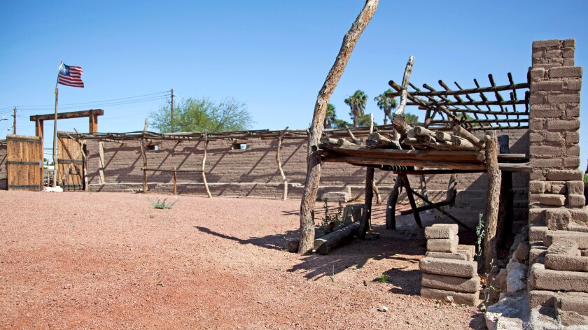 The remains of a fort built by Mormon missionaries in what is now downtown Vegas.