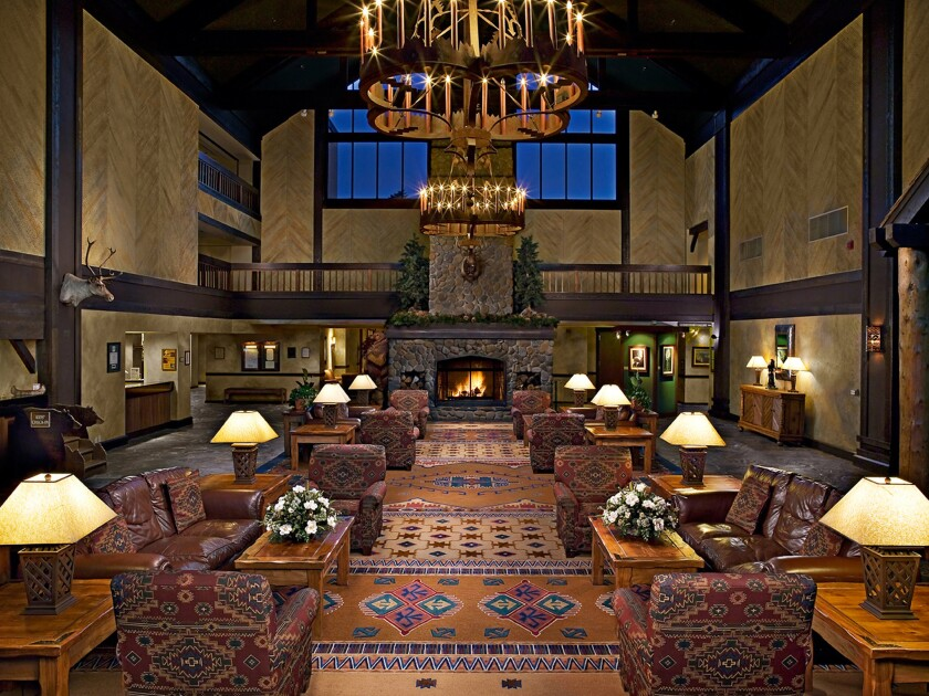 The lobby of the Tenaya Lodge at Yosemite near the national park's south entrance. The lodge won an excellence award from Travelzoo for offering travelers good deals.