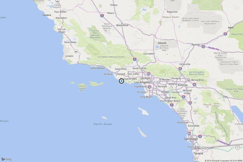 Earthquake: 3.6 quake strikes near Casa Conejo, Calif.