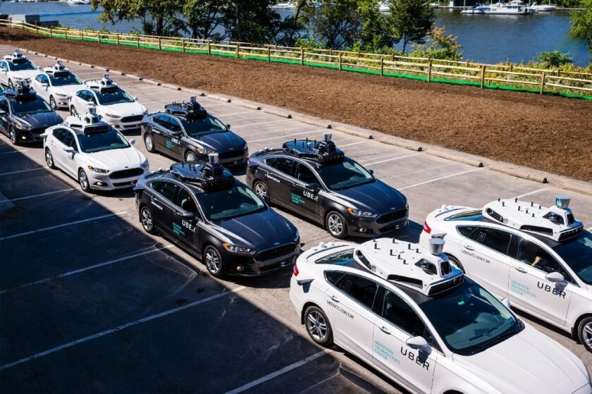 Uber's fleet of driverless cars. Can it survive the competition?