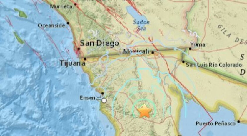 Sunday's quake occurred near the San Miguel fault in Baja California.