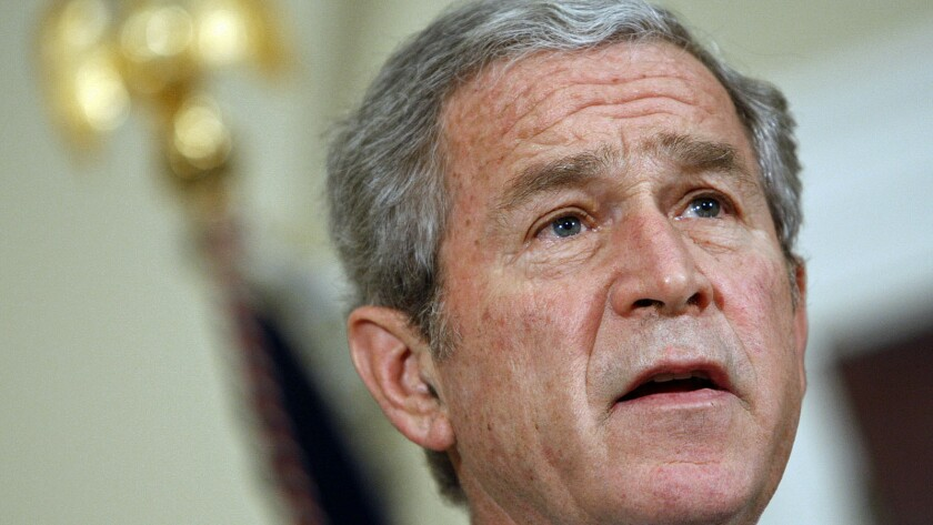 """George W. Bush wanted to be a """"uniter, not a divider."""" But like other presidents, he discovered that having strong views on issues is inherently divisive."""