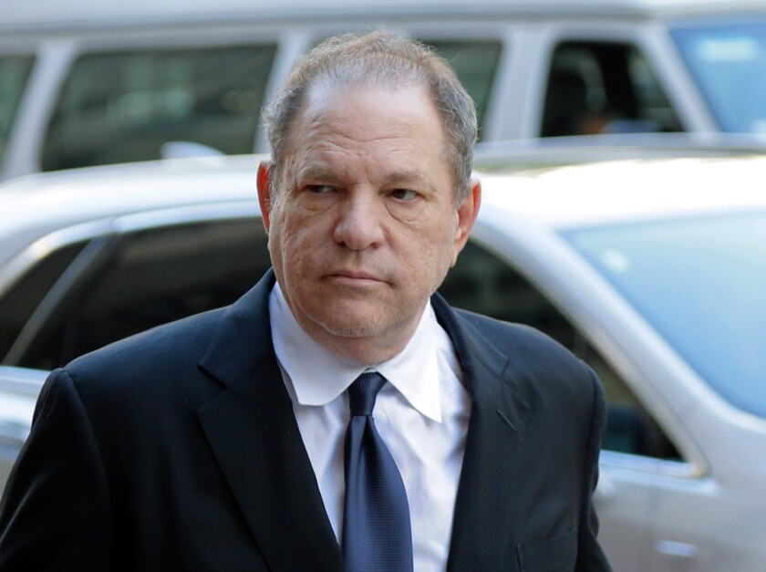 Harvey Weinstein arrives for a pretrial hearing in New York.