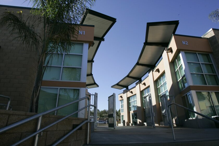 This two-story classroom building at Poway High School was funded by bond money. [U-T file]