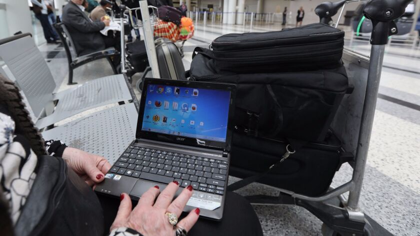 Homeland Security officials announced new security measures for all United States-bound flights, including tougher screening of laptops.