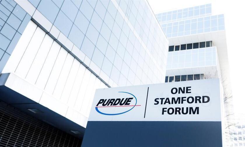 Fotografía de la sede corporativa de la compañía farmaceutica Purdue Pharma, el martes 5 de marzo de 2019 en Stamford, Connecticut (EE.UU.).EFE/Archivo
