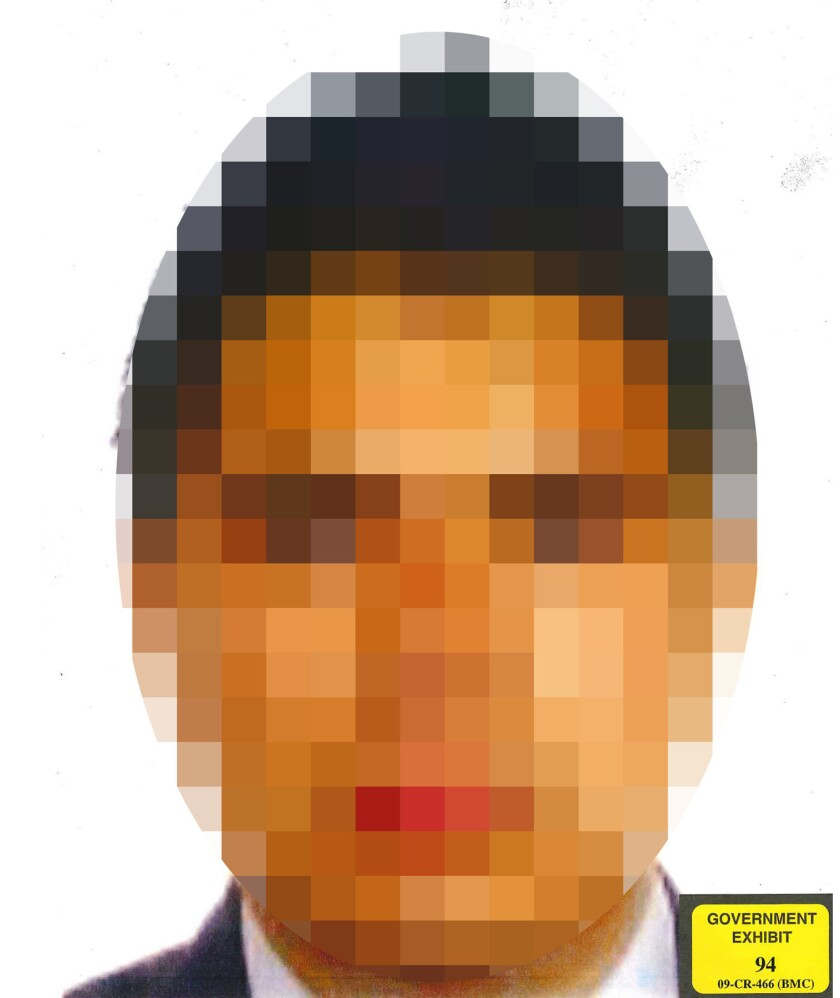 A pixelated photo of Christian Rodriguez to protect his identity was released by prosecutors. The 32
