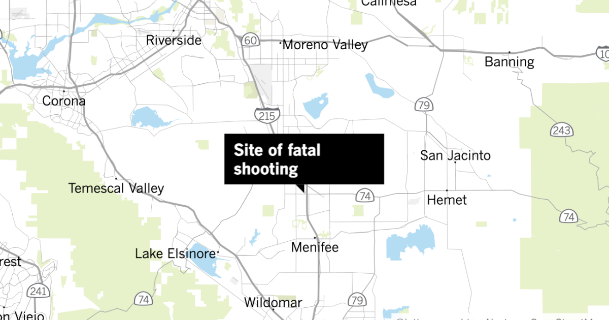 Deputies kill man on 215 Freeway after Riverside County chase - Los Angeles Times