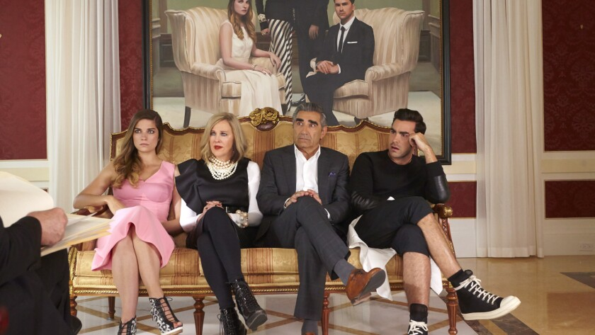 Schitts Creek Christmas Special.Schitt S Creek Cast Reacts To 2019 Emmy Nominations Los