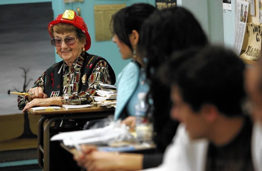Longtime English teacher Rose Gilbert