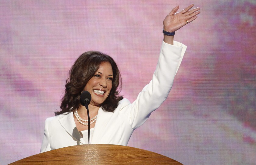Atty. Gen. Kamala D. Harris speaks at the 2012 Democratic National Convention in Charlotte, N.C.