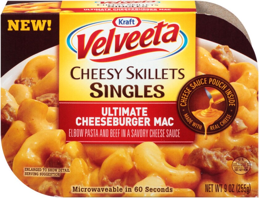Packages of Velveeta Cheesy Skillets Singles -- Ultimate Cheeseburger Mac have been recalled. Certain packages contain soy ingredients, but do not list them on the packaging.