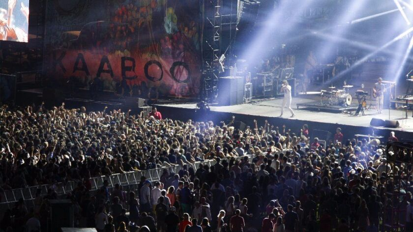 KAABOO Del Mar's largest stage, shown above, is the same stage the Grateful Dead performed on for th