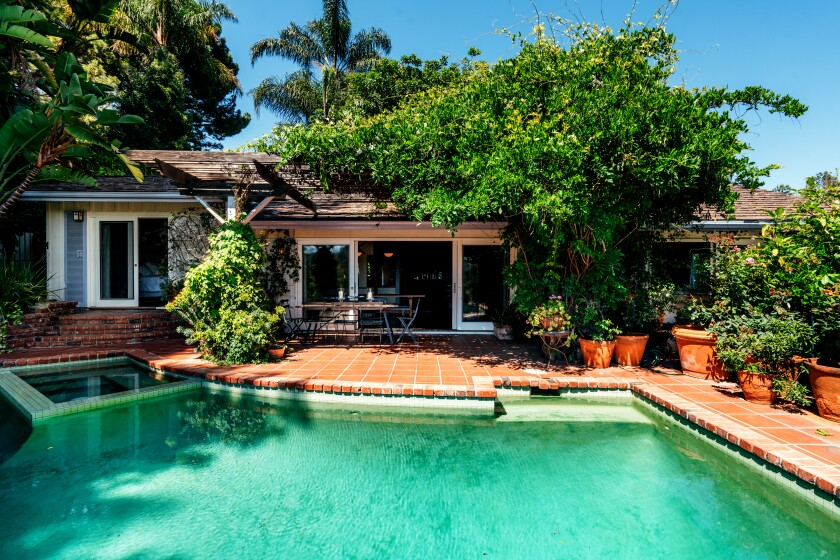 The pool at actress Stockard Channing's longtime Hollywood Hills home.