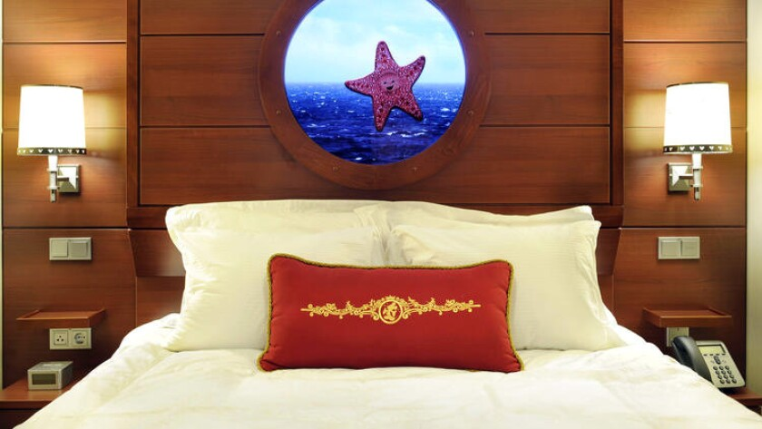 "Staterooms aboard the Disney Dream offer a ""window"" to the world with a real-time view outside."
