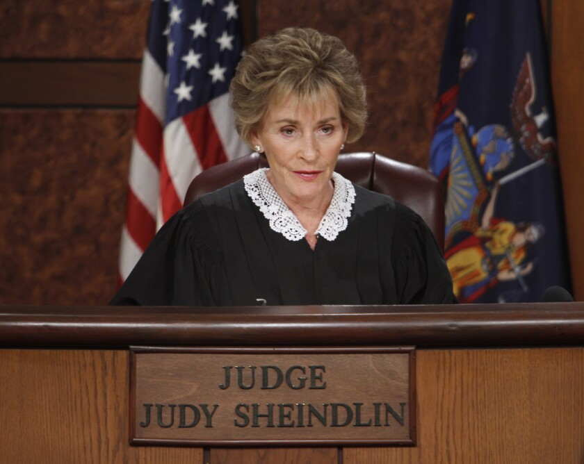 "Judge Judy Sheindlin on ""Judge Judy."""