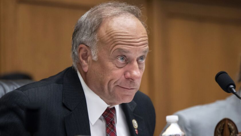 """Rep. Steve King (R-Iowa) at a hearing on Capitol Hill in Washington, D.C., in June. Kevin McCarthy, the House Republican leader, promised """"action"""" after King's latest remarks."""