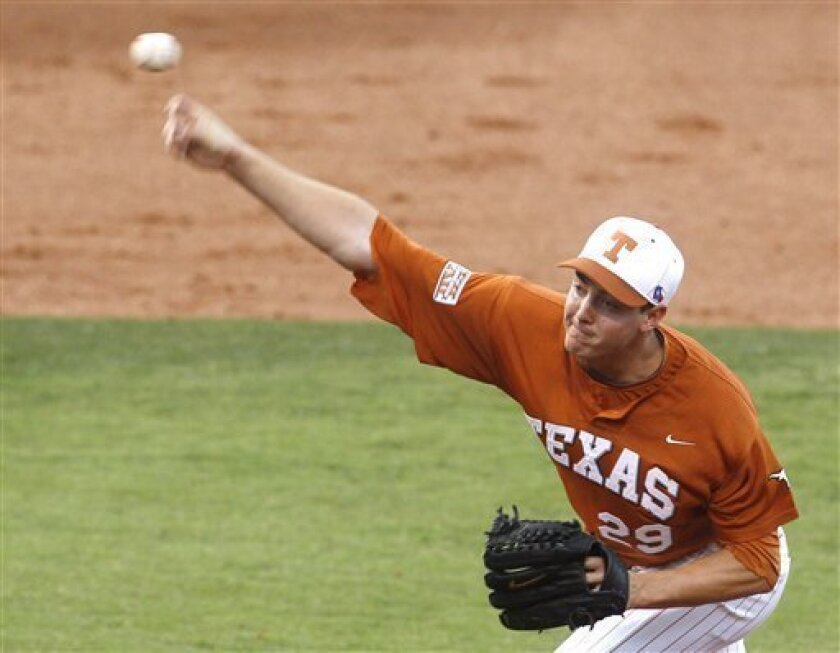 Texas Longhorns pitcher Corey Knebel was suspended from the team after a teammate failed a drug test.
