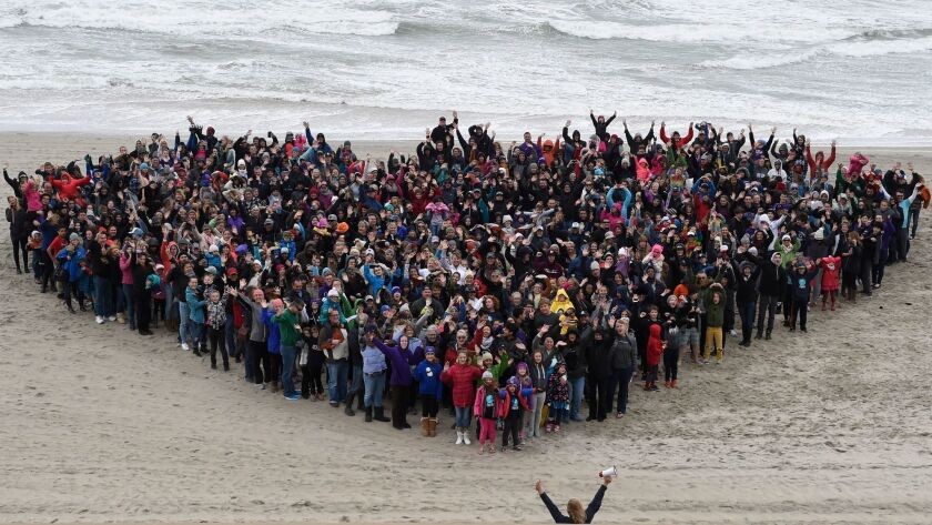 Carlsbad folks gathered on the beach to form a giant heart on Jan. 22 to kick off The Great Kindness Challenge, a kindness movement with over 10 million students nationwide performing half a billion acts of kindness.