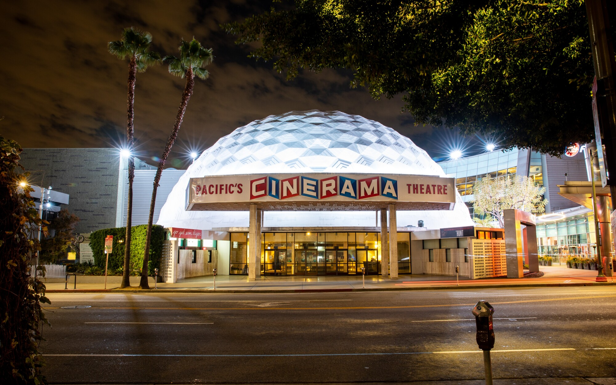 A quiet and empty Cinerama Dome at ArcLight Hollywood on March 20.