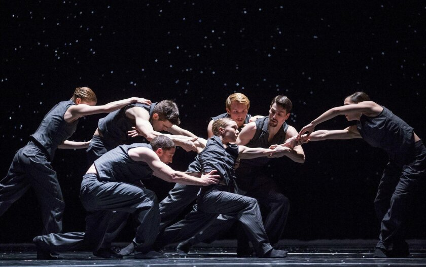8 p.m. Saturday. Spreckels Theatre, 121 Broadway, downtown. $20-$75. Details The La Jolla Music Society presents the contemporary dance company from Chicago — now in its 38th year — in a program of riveting works by internationally renowned choreographers, including Alejandro Cerrudo, Penny Saunders, William Forsythe and Crystal Pite. The energetic company traces its roots to the Lou Conte Dance Studio at the corner of LaSalle and Hubbard streets in Chicago.