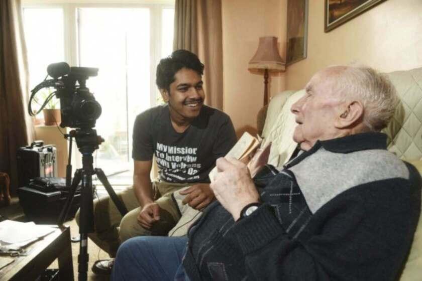 Rishi Sharma once interviewed Len Mann, a British World War II veteran who fought in the Devonshire Regiment.