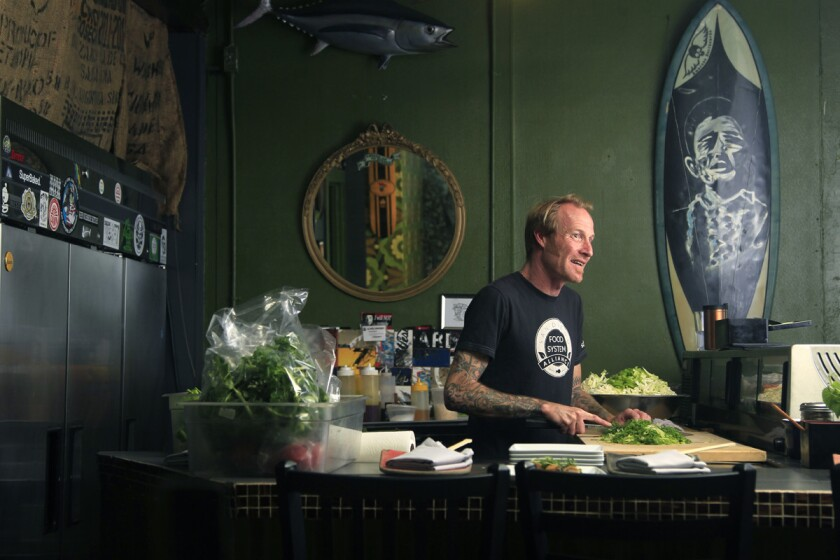 Chef Davin Waite of Wrench and Rodent Seabasstropub in Oceanside. (K.C. Alfred)