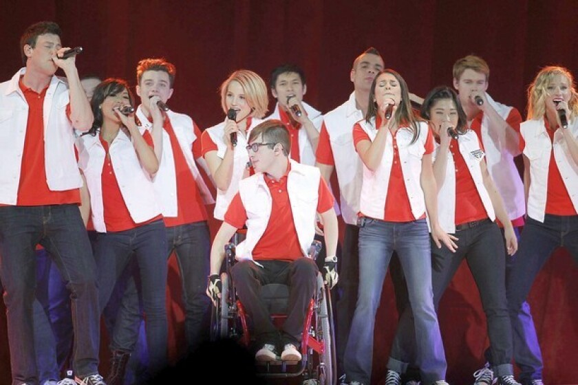 "BUSY CAST: The stars of ""Glee"" began the start of a second live tour in Las Vegas. They had finished shooting the season finale less than two weeks earlier."