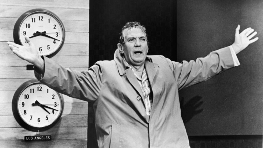 Actor Peter Finch In The Film 'Network'